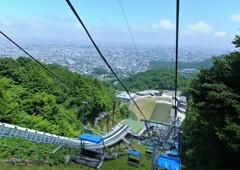 大倉山ジャンプ台3 リフトからの振り返り