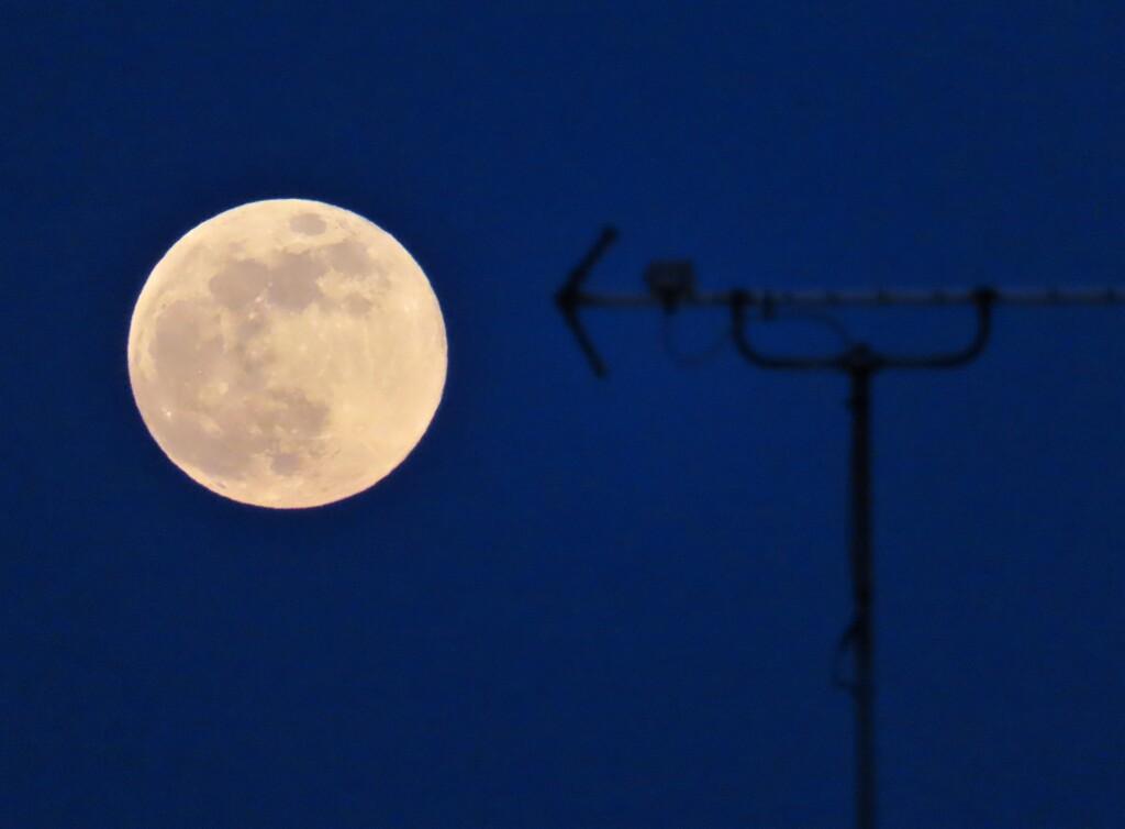 月とアンテナ