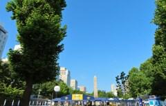 大通公園の青空
