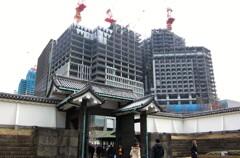 パレスホテル建設中