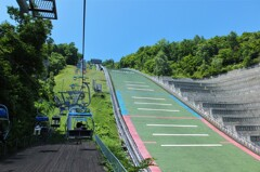 大倉山ジャンプ台1 さあ、ジャンプ台へ登ります!