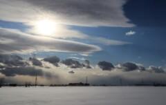 色々な雲と太陽