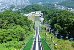 大倉山ジャンプ台2   皆さん!飛んでみますか?