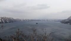 冬の摩周湖 定番風景