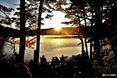 白駒池~夜明け~