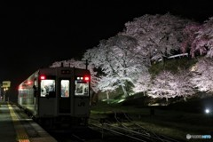 舞木駅ライトアップ