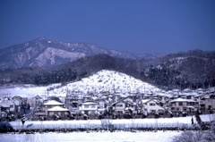 厚木市森の里の雪景色