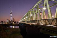 木根川橋と東京スカイツリー