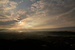 皿倉山からの夕景