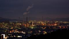 周南市の夜景