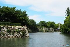 お濠と石垣 (姫路城)