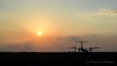 瀬戸の夕陽 タキシング