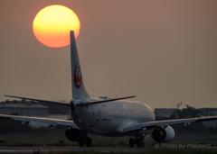 瀬戸の夕陽「離陸」