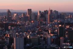 夕暮れの新宿