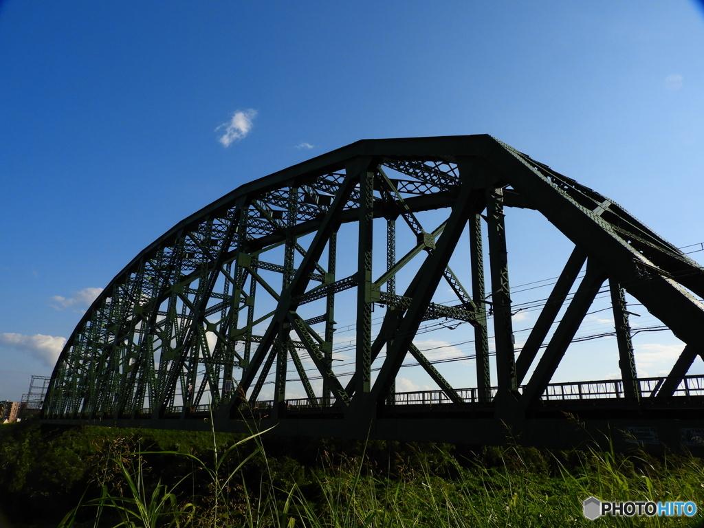 澱川橋梁ちょい逆光