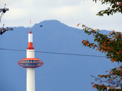 京都タワーと愛宕山