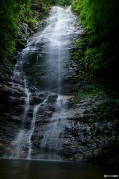 雨の水ヶ滝