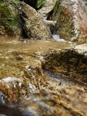 2無名瀑、流れの相似則@紫香楽