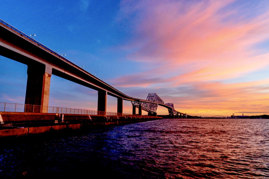 東京ゲートブリッジ夕景