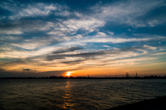 sunset view of tokyo bay3
