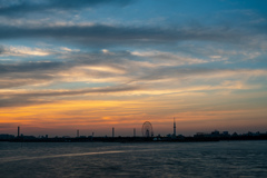 sunset view of tokyo bay2