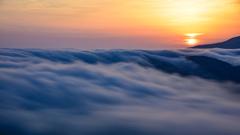 日の出雲海