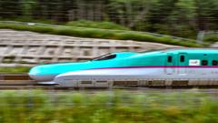 新幹線、流し撮りチャレンジ