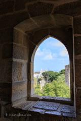 城壁の見張り窓