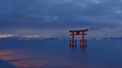 琵琶湖3 夜明け前の白髭神社