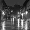 ひがし茶屋街2 雨の石畳