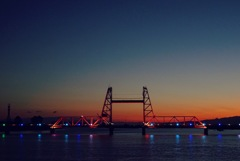 新年の夕暮れを昇開橋で1