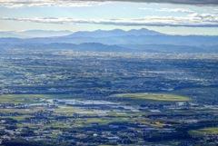 男体山から見る関東平野