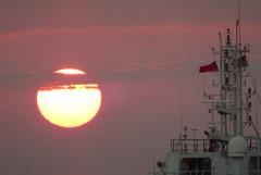 高雄港の夕日
