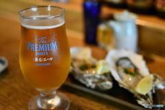 夏は生ビールと生牡蠣だよね〜〜