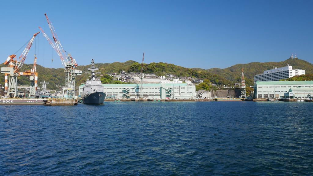 軍艦島クルーズ (4) 三菱長崎造船所第三船渠