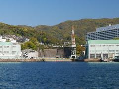 軍艦島クルーズ (5) 三菱長崎造船所第三船渠