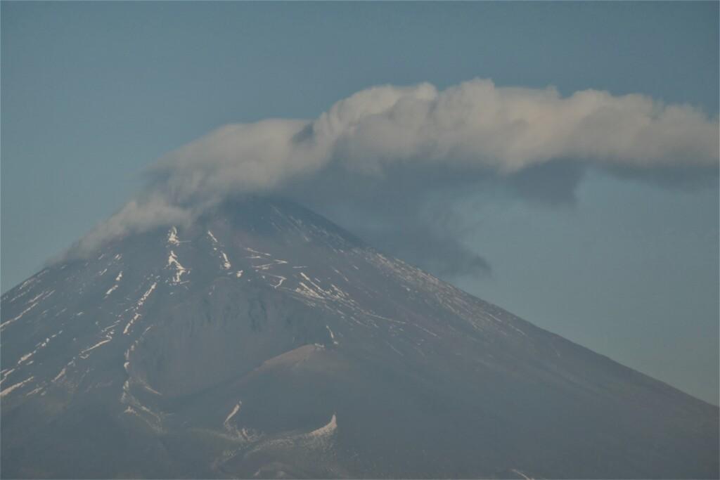 P1000632 (2) 1月22日 今朝の富士山