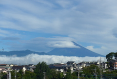 P1280218 8月19日 今朝の富士山