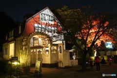 江戸東京たてもの園 ライトアップ デラランデ邸