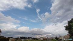 広角の青空と雲2