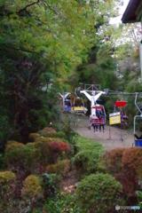 高尾登山リフト号と紅葉