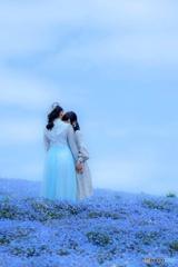 花畑の二人