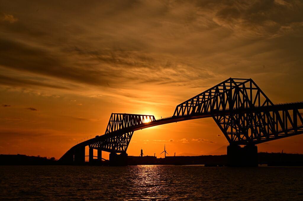 夕焼けのゲートブリッジ