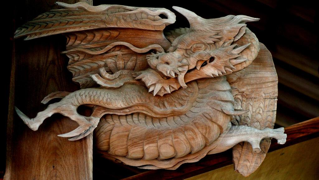 田無神社の木鼻