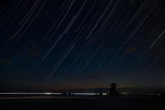 雨晴の流れる星