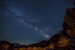 天の川と剣岳