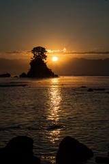 雨晴海岸の日の出