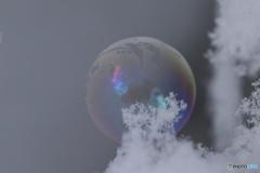 真冬のシャボン玉