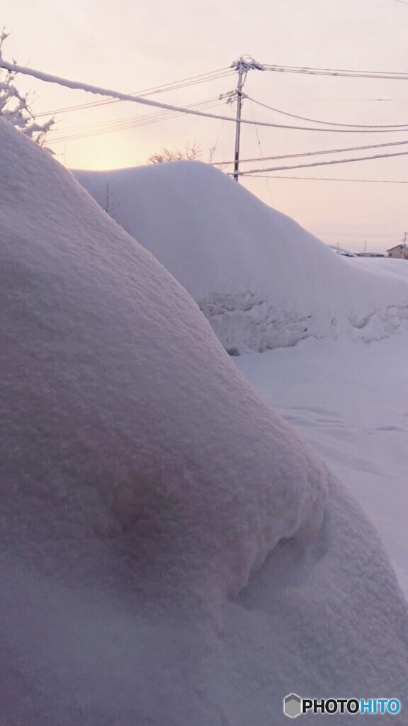 朝の除雪前