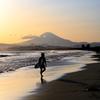湘南と富士山と夕空と。。。贅沢な。。